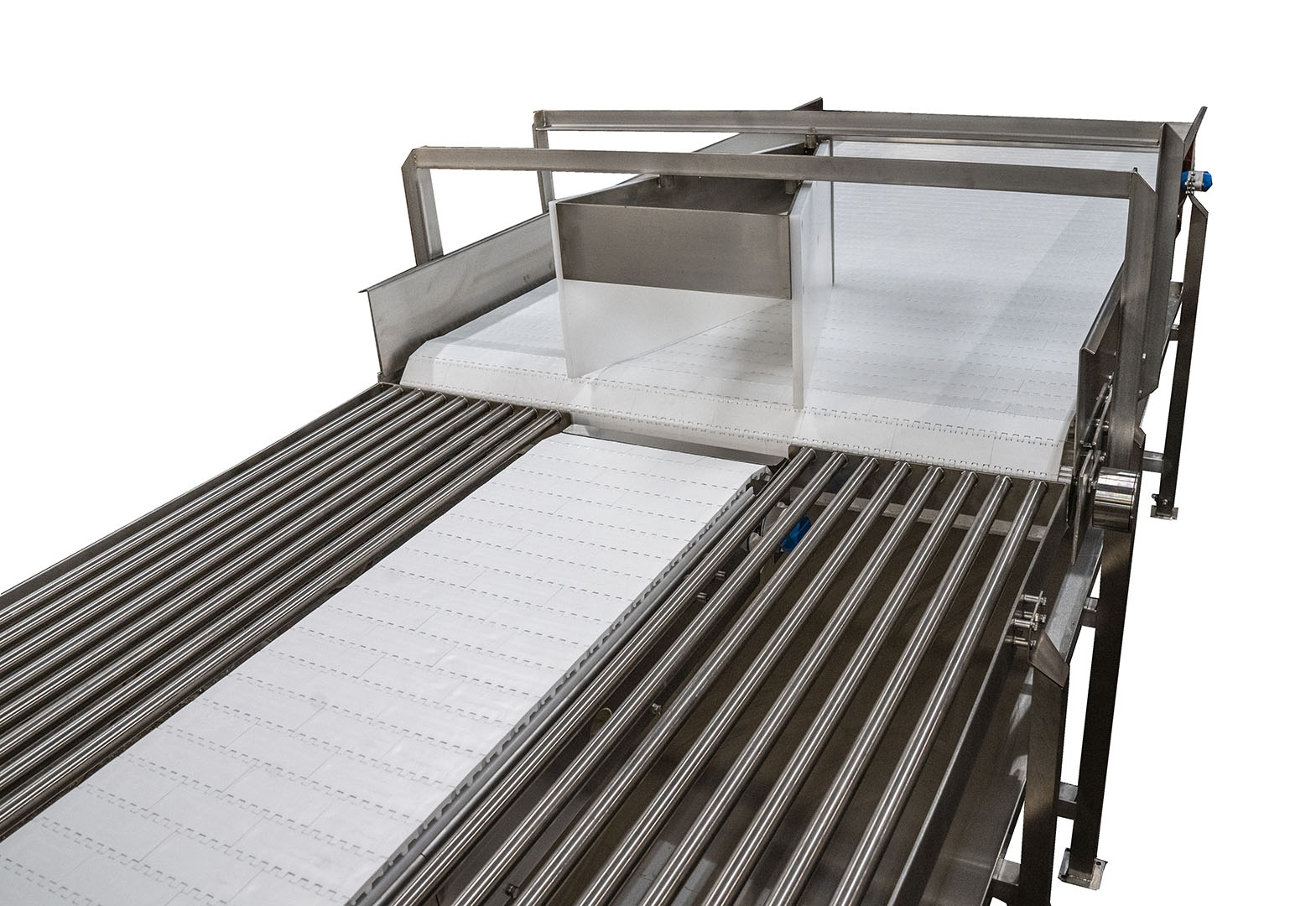 Mt Heb Meat Loading Table | Mat Top Conveyors | Laughlin Conveyor